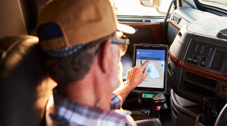 Commercial vehicle GPS navigation software